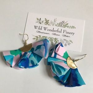 Lilly Pulitzer Handmade Fabric Ruffle Earrings